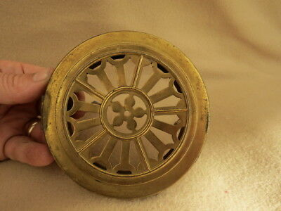 Antique German Brass Clock Back Door