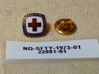 1973, Advanced First Aid and Emergency Care class pin of the American Red Cross