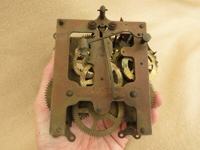 Antique Badische Uhrenfabrik Clock Movement For Spares