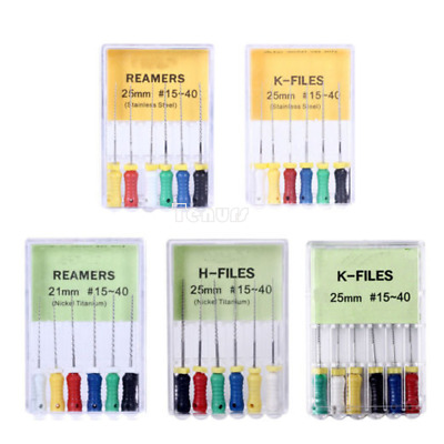 1Xdental NITI R/K/H--FILES Hand Use File 15#-40#,21/25mm Root Canal Endodontic