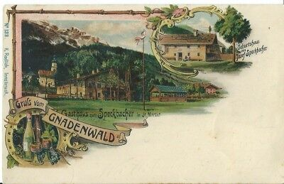 Austria, Chromolithographic Greetings Postcard From Gnadenwald