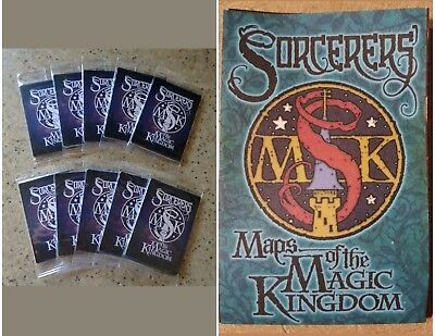 10 UNOPENED PACKS & MAP Disney Sorcerers of the Magic Kingdom Cards (50 cards)