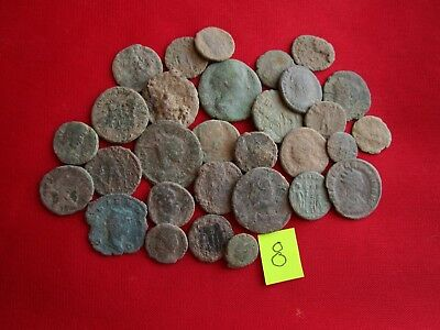 Ancient Roman coins - UNCLEANED COINS - Beautiful . Lot with 30 pieces .No.8