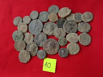 Ancient Roman coins - UNCLEANED COINS - Beautiful . Lot with 30 pieces .No.10