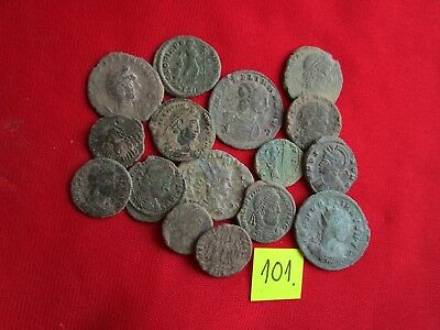 QUALITY UNCLEANED COINS - Ancient Roman - VERY GOOD. Lot with 15 pieces .No.101