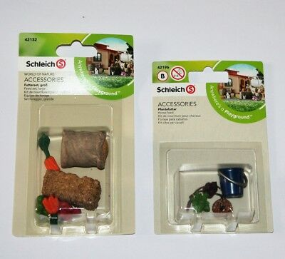 Large Horse Assessories * New * FEED SET 42132 Schleich Farm Life