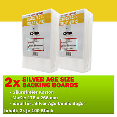 200x Comic Concept Silver Age Boards (178 x 266 mm)