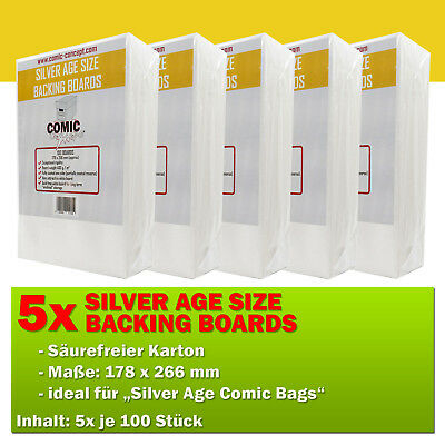 500x Comic Concept Silver Age Boards (178 x 266 mm)