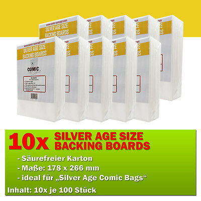 1000x Comic Concept Silver Age Boards (178 x 266 mm)