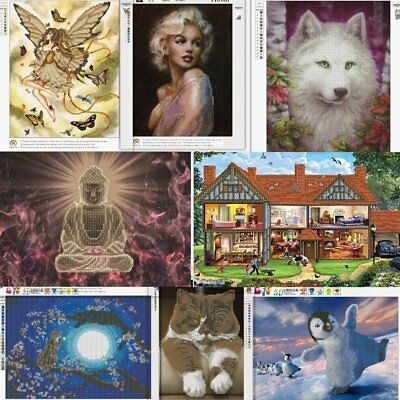 Multi-pattern DIY 5D Diamond Wall Painting Rhinestone Embroidery Cross Stitch I2