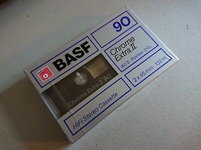 BASF Chrome Extra II C90 Blank Audio Cassette Tape New Sealed 90 Minute scellé