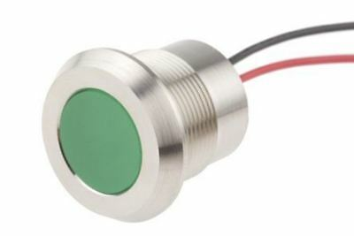 Indicator RS Pro Green, IP67, 220 V ac, 22mm Mounting Hole Size, Lead Wires Term