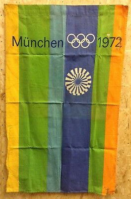 Vintage 1972 Munich Olympic Games Flag