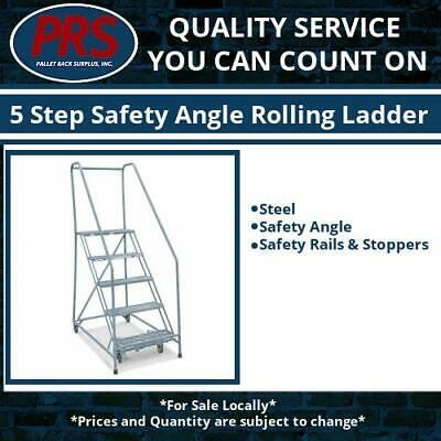 5 Step Safety Angle Rolling Ladder