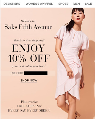 Saks Coupon 10% Off (Valid Exp Oct 30, 2018 - exclusions apply) *CLICK HERE*