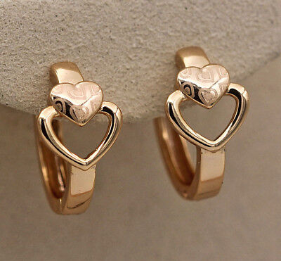18K Gold Filled - 2-Layer Hollow Laser Carving Heart Party Lover's Gift Earrings