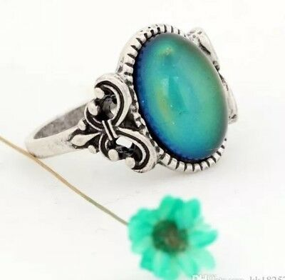 Magic Mood Ring in Antique Sterling Silver Inspired Le Fleur Design