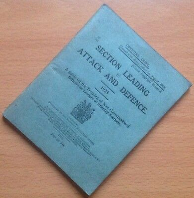 Original 1923 British Army Training Manual: Section Leading In Attack & Defence
