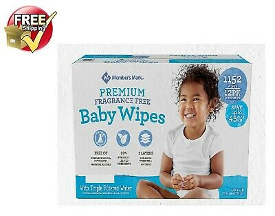 Member's Mark Premium Fragrance Free Baby Wipes 1152 ct.