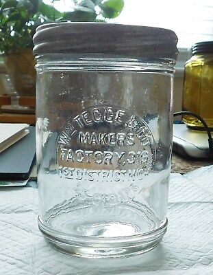 Cigar Jar - Glass Clear Advertising 25 Count - W.m. Tegge - Mint