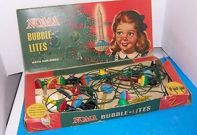 Vintage Noma Christmas Bubble Lights With Box