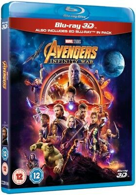 Avengers Infinity War 3D Blu Ray + 2D [Blu-ray] - BRAND NEW - NEXT DAY DELIVERY