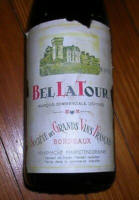 Original WW2 German Marked French Wine Bottle, for German Soldiers Only!!