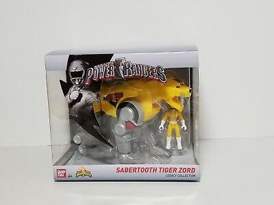 SABANS POWER RANGERS SABERTOOTH TIGER ZORD FIGURE LEGACY COLLECTION BRAND NEW