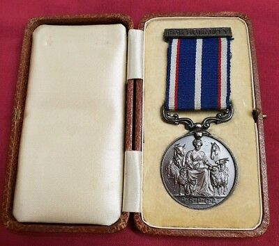 RSPCA Life Saving Medal (Bronze) in Box of Issue named to J Atkinson 1955