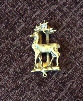 An Antique Brass Stag Design Door Knocker c1920s