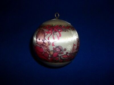 Hallmark 1977 Baby's First Christmas Satin Bulb Ornament