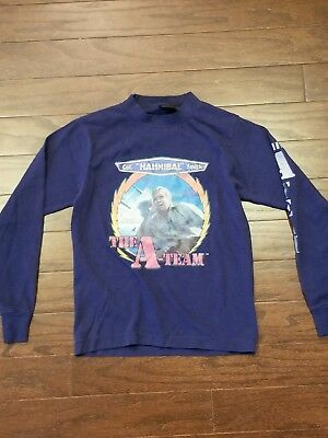 "*Vintage* 1983 ""A- Team"" Long Sleeve T-Shirt, Youth Size M, Col. Hannibal Smith"