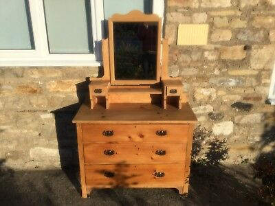 Antique Pine Dressing Table/chest