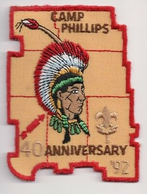 G Patch, Camp Phillips 1992, Chippewa Valley Council Wisconsin WI, 40th Anniv.