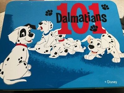Vintage  101 DALMATIANS Character Metal Lunchbox/Thermos from Disney Store