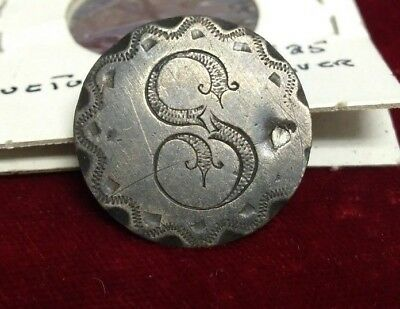 """1816 British schilling King George Love Token with initial """"S"""""""