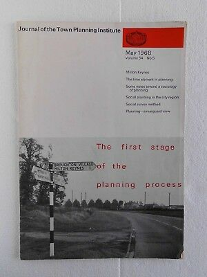 Journal of the Town Planning Institute May 1968 (Magazine)  Milton Keynes