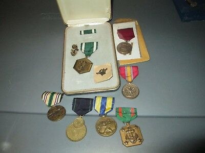 Desert Storm Era US Navy Medals Lot With Box