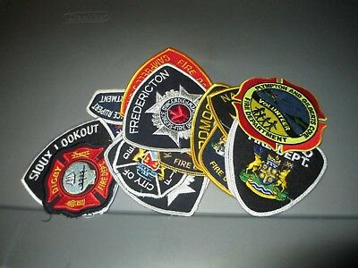 18 Different CANADA City & County Fire Rescue FIRE Dept Patches