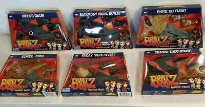 6 pack full collection BRATZ BOYZ DOLL FASHION PACK CLOTHES W/ SHOES -PHYS