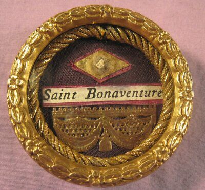 Antique & Ornate Theca Case With A Relic Of St.bonaventure