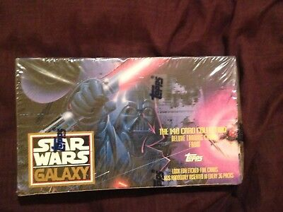 1993 Topps Star Wars Galaxy Trading Cards Deluxe Brand New Sealed Box 36 Packs