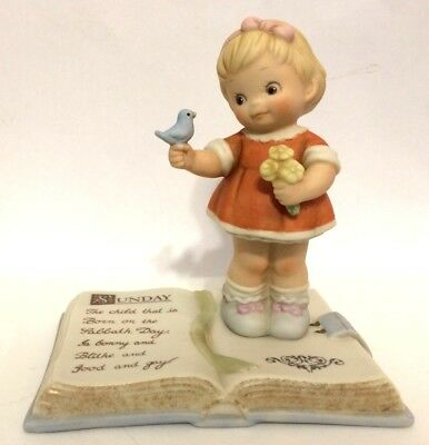 """Enesco Mabel Lucie Attwell Memories Of Yesterday """"Sunday's Child"""" Figurine 1993"""