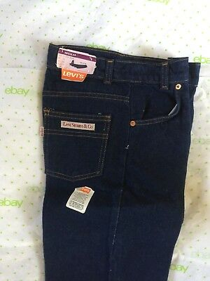 LEVI'S 31399-9616 girls 14 reg 26 X 32 denim blue jeans NOS USA VTG 1981 NWT NEW