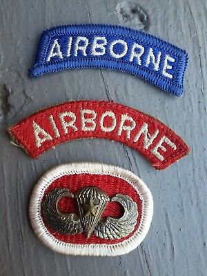 WW2 Sterling Jump Wings and patches