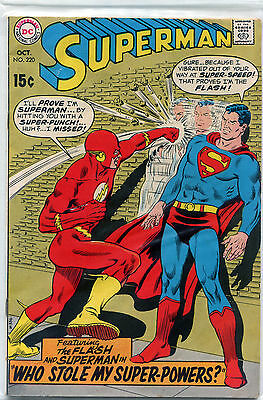 SUPERMAN DC wFLASH, SILVER AGE LOT OF 10:#111,220,230,154,221,126,138,141,139
