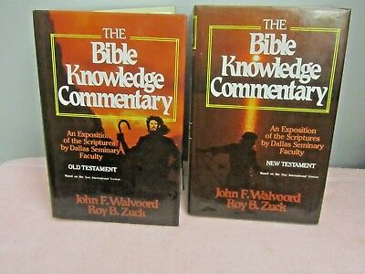 The Bible Knowledge Commentary Old & New Testament Walvoord & Zuck - 2 Book Set