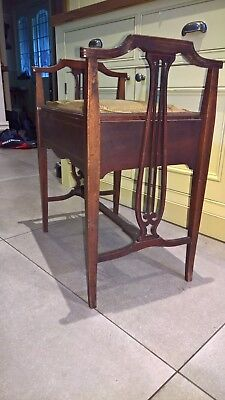 Antique piano stool - Edwardian/ Victorian