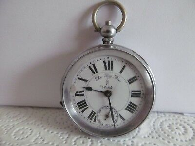 vintage Swiss made pocket watch chrome cased good condition working ??
