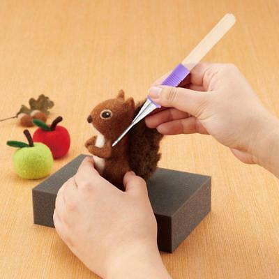 Needle Felting Handle Holder With 2 Needles Wool Embroidery Craft Kit DIY Tool